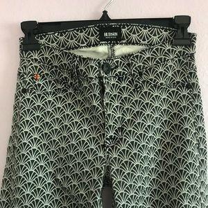 HUDSON Dark Grey Metallic Stretch Jeans